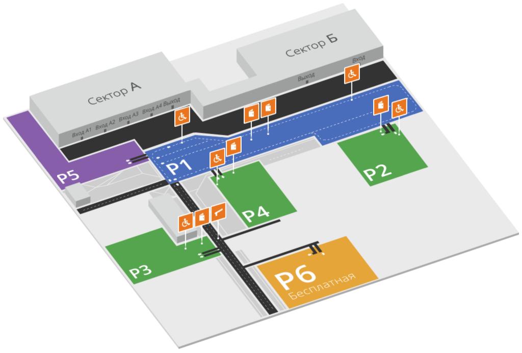 Схема парковочных территорий Толмачёво